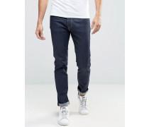 Friday Enge, unbearbeitete Jeans Blau