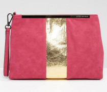 Clutch mit Metallic-Design Gold