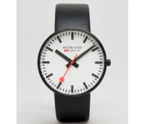 Giant 42 mm große Uhr in Schwarz/Schwarz Schwarz