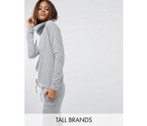 Schimmerndes Sweatshirt mit Rollkragen Grau