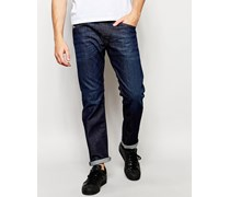 Belther 844C Schmale Stretch-Jeans in dunkler Waschung Blau