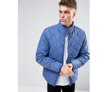 Wattierte Jacke mit Rautenmuster Blau