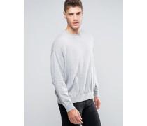 Oversize-Pullover aus grauer Baumwolle Grau