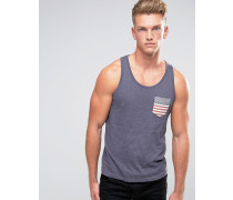 USA-Weste mit Tasche Marineblau