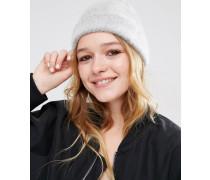 Flauschige, superweiche Mütze Grau