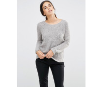 Pullover in Metallic Grau