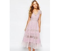 Hochzeits-Tulpenkleid Violett