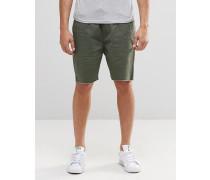 Shorts mit Kordelzug in der Taille Grau