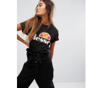 Oversize-T-Shirt mit klassischem Logo Schwarz