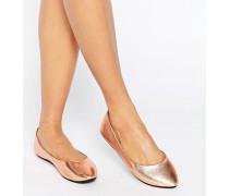 Bronzefarbene Ballerinas Kupfer