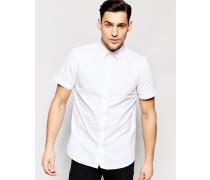 Kurzärmliges Hemd in regulärer, klassischer Passform Weiß