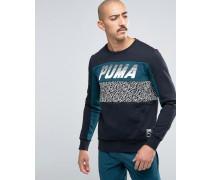 Speed Font Schwarzes Sweatshirt mit Rundhalsausschnitt 57160101 Schwarz