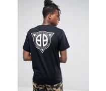 T-Shirt mit geradem Logodruck am Rücken Schwarz