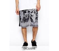 Bedruckte Shorts in limitierter Auflage Weiß