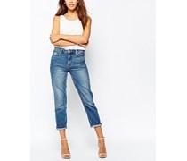 Jeans mit weitem Bein Marineblau