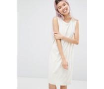 Ärmelloses Kleid Weiß