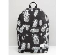 Rucksack mit Ananas-Print Schwarz