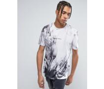 Weißes T-Shirt mit Print Weiß