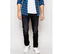 Jet Schmale Jeans aus Denim in verwaschenem Schwarz Schwarz