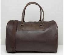 Elegante Reisetasche in Braun mit Kontrasten Braun