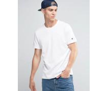 T-Shirt mit kleinem Logo Weiß
