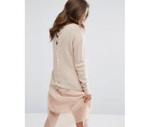Pullover mit Gittermuster Beige