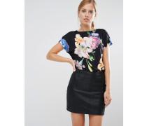 Woesy T-Shirt mit Tapestry-Blumenprint Mehrfarbig