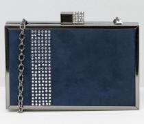 Hartschalen-Clutch Marineblau