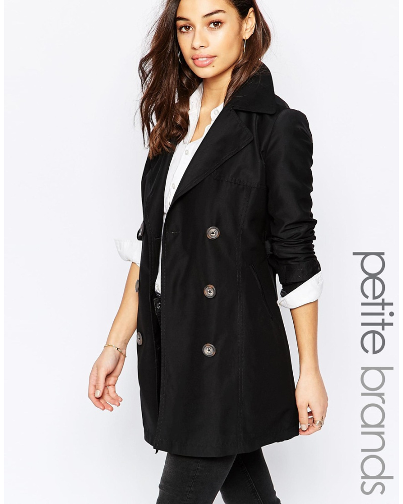 new look damen trenchcoat schwarz reduziert. Black Bedroom Furniture Sets. Home Design Ideas