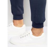 Weiße Sneakers aus Kunstleder Weiß