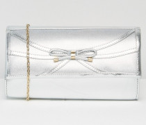 Clutch in Metallic-Optik Silber