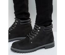 Stoke Stiefel aus Nubukleder Schwarz