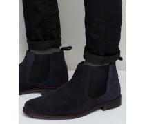 Marineblaue Chelsea-Boots Blau