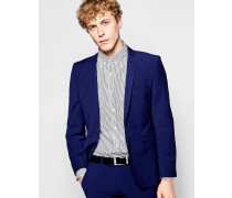 Einfarbige Anzugjacke Blau