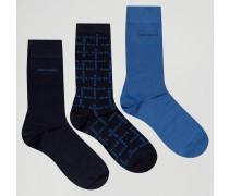By Hugo Socken im 3er Pack im Geschenkset Blau