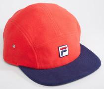 Fleece-Kappe mit Box-Logo und Kontrastschirm Schwarz
