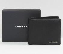 Hiresh Leder-Brieftasche mit Münzfach Schwarz