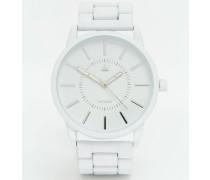 Armbanduhr in Mattweiß Weiß