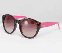Mink Pink Paparazzi Runde Sonnenbrille Rosa