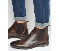 Boxley Chelsea-Stiefel aus Leder Braun