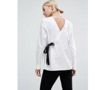Hemd mit V-Ausschnitt vorn und hinten Weiß