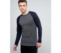 Langärmliges T-Shirt mit Logo und Raglan-Ärmeln Grau