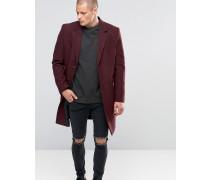 Mantel aus Wollmischung in Burgunderrot Rot
