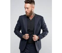 "Schmal geschnittene Anzugjacke mit ""Prince Of Wales""-Karos Marineblau"