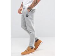 Schmale Sweatpants mit Bündchen und Logo in Grau Grau