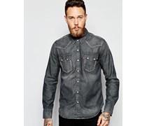 Levi's Jeanshemd mit Sägezahndesign im Western-Stil in verwaschenem Grau Grau