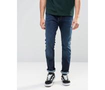 Schmal geschnittene Jeans Blau