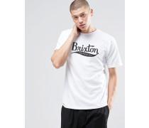 T-Shirt mit großem Logo-Aufdruck Weiß