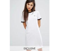 Archive Ringer T-Shirt-Kleid Weiß