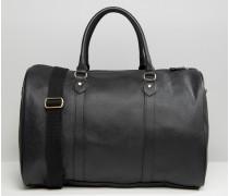 Elegante Reisetasche aus schwarzem Kunstleder Schwarz